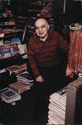 Leo Fink Seated at News Stand Linden CTA
