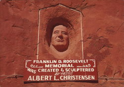 Hole 'N the Rock Home - Roosevelt Memorial Postcard