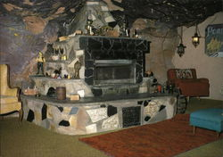 Fireplace, Worlf-Famous Hole n' the Rock Home