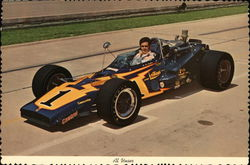 Al Unser In His Racing Car