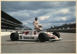 Tom Sneva with 5 Texaco Star Race Car Postcard
