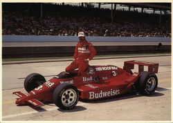 Bobby Rahal With Race Car - Indianapolis Motor Speedway