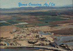 Yuma Crossing. AZ / CA. - Ariel View
