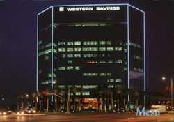 Western Savings Building at Night