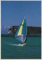 Windsurfing in Tumon Bay, Guam.