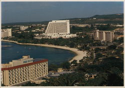 Several of the First Class Hotels on the Southern End of Tumon Bay.