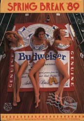 Spring Break 1989 - 3 Women in Budweiser Swimsuits