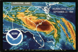 Hurricane Hugo, September 22, 1989 Radar Map