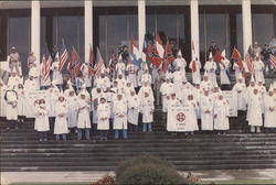 KKK Rally - Group on Steps
