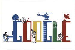Google Doodle - with People, Labor Day 2013