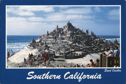 Sand Castles on the Beach in Southern California