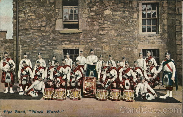Pipe Band, Black Watch Scotland