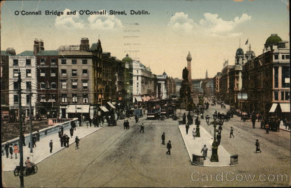 O'Connell Bridgea and O'Connell Street Dublin Ireland