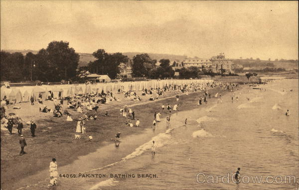 Bathing Beach Paignton England Devon