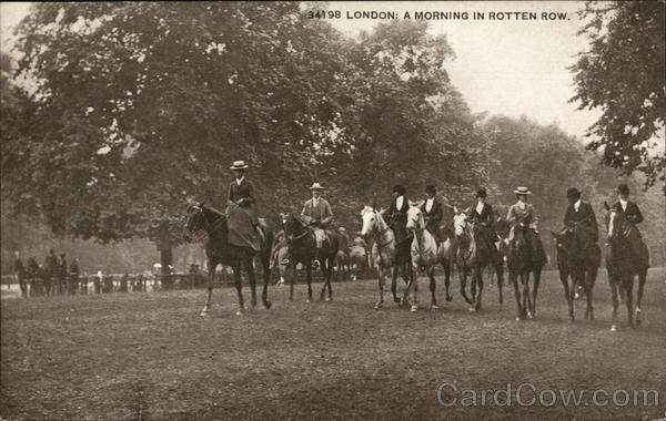 Riders in Rotten Row London England