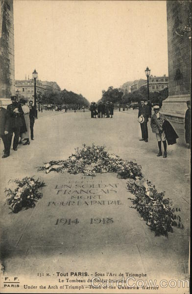 Under the Arc de Triomphe - Tomb of the Unknown Warrior Paris France