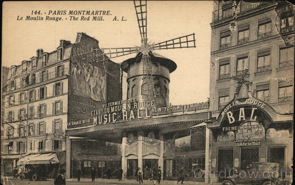Le Moulin Rouge - Montmartre Paris France