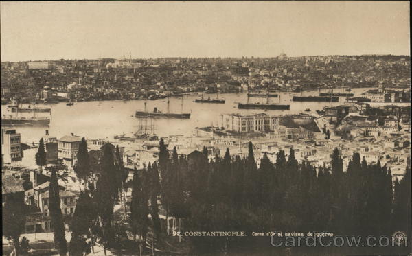 Golden Horn and Warships Istanbul Turkey Greece, Turkey, Balkan States