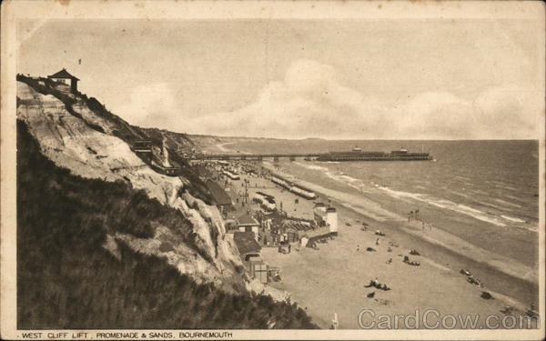 West Cliff Lift, Promenade & Sands Bournemouth England