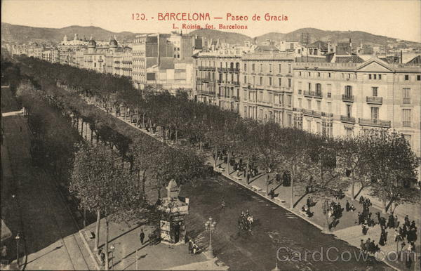Paseo de Gracia Barcelona Spain Spain, Portugal