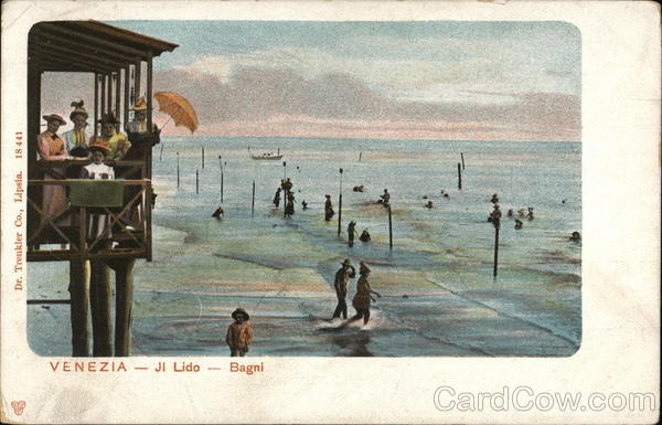 Bathing in the Lido Venice Italy