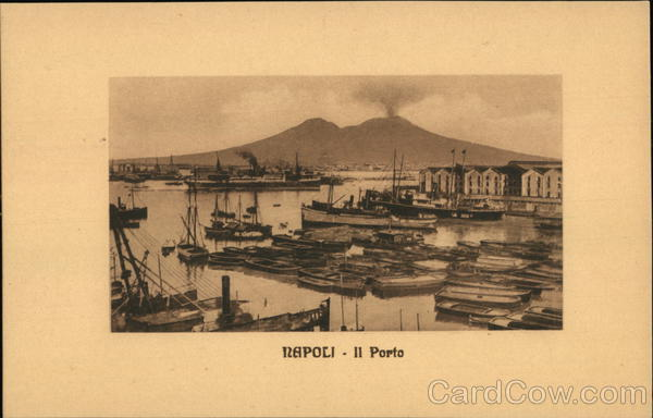View of Port Naples Italy