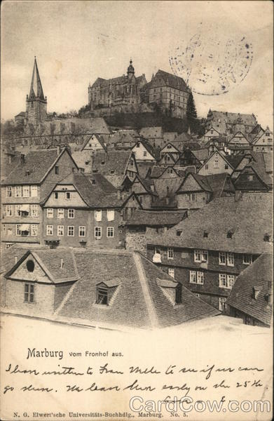 View of Town and Castle Marburg Germany