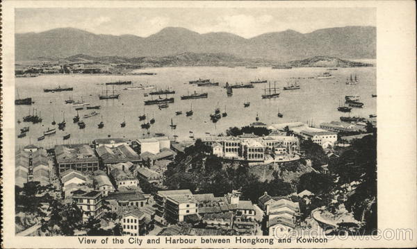 View of the City and Harbour between Hongkong and Kowolon Hong Kong