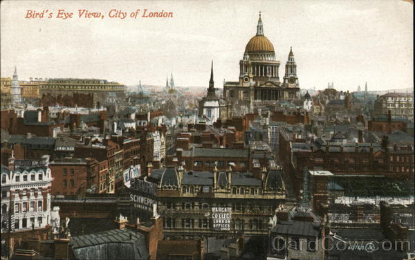 Bird's Eye View of City of London England