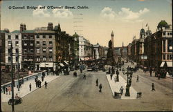 O'Connell Bridgea and O'Connell Street
