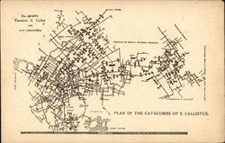 Plan of the catacombes of saint callistus Postcard
