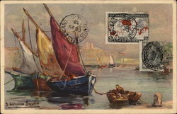 Sailing Scene - Canadian Stamps