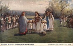 Warwick Pageant: Founding of Warwick School Postcard