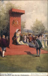 Warwick Pageant: Queen Elizabeth and the boy Shakespeare Postcard