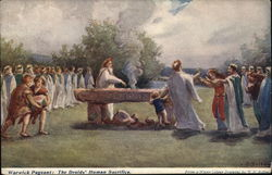 Warwick Pageant: The druids' Human Sacrifice Postcard