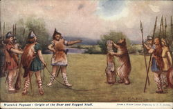 Warwick Pageant: Origin of the bear and ragged staff Postcard