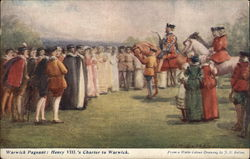 Warwick Pageant: Henry VIII.'s Charter to Warwick Postcard