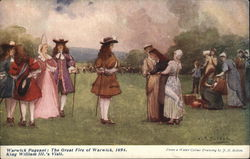 Warwick Pageant: The great fire of Warwick, 1691 Postcard