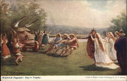 Warwick Pageant: Guy's Trophy Postcard