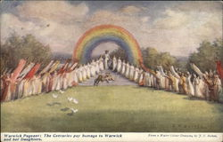 Warwick Pageant: The centuries pay Hommage at Warwick and her Daughters Postcard