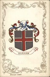 Durham. (Coat of Arms) Postcard
