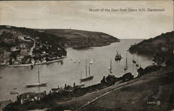 Mouth of the dart from Dyers Hill, Dartmouth Postcard