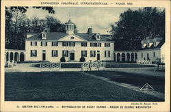 U.S. Exhibit Mount Vernon Replica - Exposition Colonial Internationale, Paris 1931