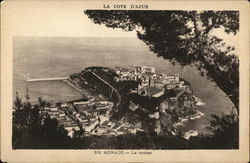 Aerial View of Rock of Monaco