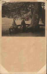 Japanese Girls Sitting Under Tree