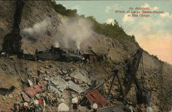 An accident, Wreck of large Steam-Shovel at bas Obispo