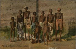 Group of famine stricken victims