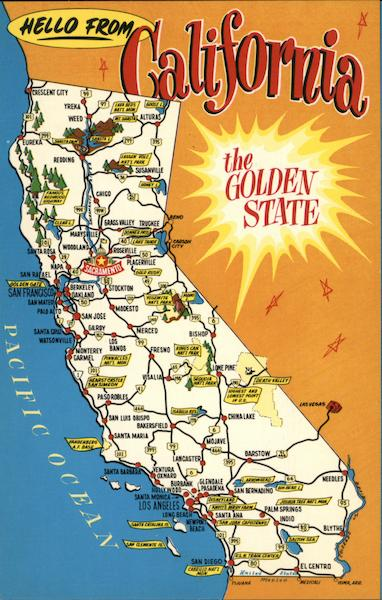 Hellow From California, The Golden State Maps