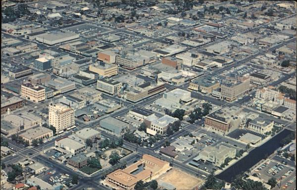 Aerial View of Downtown Bakersfield California