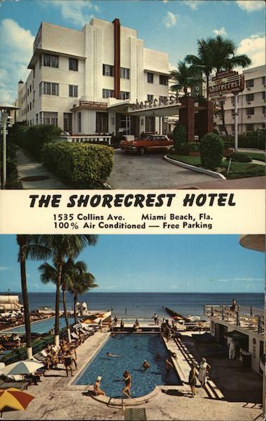 The Shorecrest Hotel Miami Beach Fl Postcard